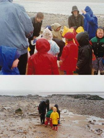 southerdown beach in the rain summer 1991
