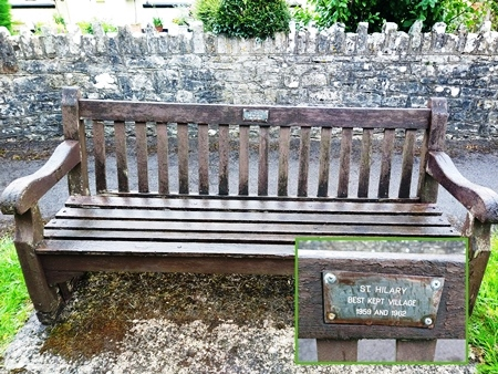 BKV plaque on bench