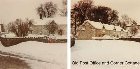 Old Post office and corner cottage 1963 002